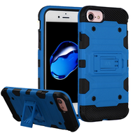Military Grade Certified Storm Tank Hybrid Armor Case with Stand for iPhone 8 / 7 / 6S / 6 - Blue