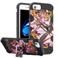 Military Grade Certified Storm Tank Hybrid Armor Case with Stand for iPhone 8 / 7 / 6S / 6 - Pink Oak Hunting Camouflage