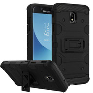 Military Grade Certified Storm Tank Hybrid Armor Case with Stand for Samsung Galaxy J7 (2018) - Black