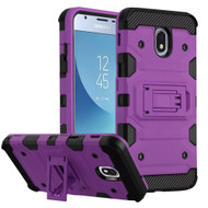 Military Grade Certified Storm Tank Hybrid Armor Case with Stand for Samsung Galaxy J3 (2018) - Purple