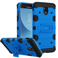 Military Grade Certified Storm Tank Hybrid Armor Case with Stand for Samsung Galaxy J7 (2018) - Blue
