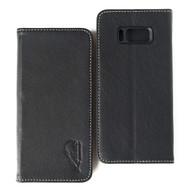 *SALE* Genuine Leather Rfid Wallet Case for Samsung Galaxy S8 Plus - Black