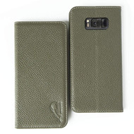 *SALE* Genuine Leather Rfid Wallet Case for Samsung Galaxy S8 Plus - Olive Green