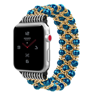 *Sale* Glamorous Chic Style Bracelet Faux Crystal Watch Band for Apple Watch 44mm / 42mm - Blue