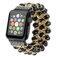 *Sale* Glamorous Chic Style Bracelet Faux Crystal Watch Band for Apple Watch 40mm / 38mm - Black