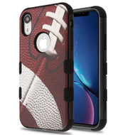 Military Grade Certified TUFF Hybrid Armor Case for iPhone XR - Football