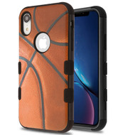 Military Grade Certified TUFF Hybrid Armor Case for iPhone XR - Basketball