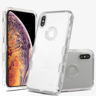 Military Grade Certified TUFF Lucid Transparent Hybrid Armor Case for iPhone XS Max - Clear