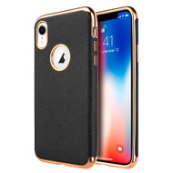 Saffiano Luxury Fusion Case for iPhone XR - Black
