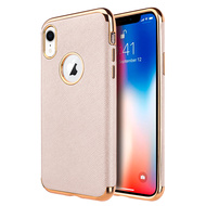 Saffiano Luxury Fusion Case for iPhone XR - Rose Gold