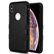 Military Grade Certified TUFF Fuse Hybrid Armor Case for iPhone XS Max - Carbon Fiber Black