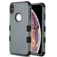 Military Grade Certified TUFF Fuse Hybrid Armor Case for iPhone XS Max - Carbon Fiber Grey