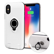 *Sale* Smart Power Bank Battery Charger Case 5000mAh with Ring Holder for iPhone XS / X - White