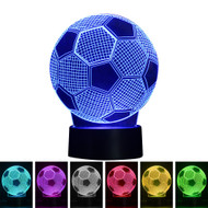 Creative 3D Visualization LED Night Lamp - Soccer Ball