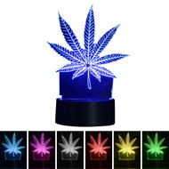Creative 3D Visualization LED Night Lamp - Cannabis