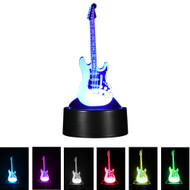 Creative 3D Visualization LED Night Lamp - Electric Guitar