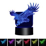 Creative 3D Visualization LED Night Lamp - Flying Eagle