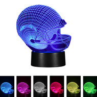 Creative 3D Visualization LED Night Lamp - Football Helmet