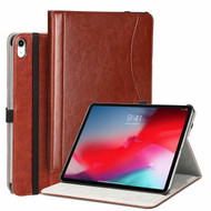 Slim Folding Smart Leather Folio Stand Case with Auto Wake / Sleep for iPad Pro 11 inch - Brown