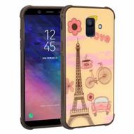 Scratch Resistant Tempered Glass Air Cushion TPU Fusion Case for Samsung Galaxy A6 (2018) - Love Paris