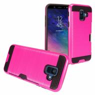 Card To Go Hybrid Case for Samsung Galaxy A6 (2018) - Hot Pink