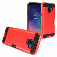 Card To Go Hybrid Case for Samsung Galaxy A6 (2018) - Red