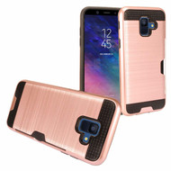 Card To Go Hybrid Case for Samsung Galaxy A6 (2018) - Rose Gold