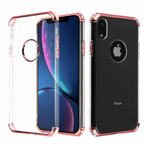 Klarion Crystal Clear Tough Case For Iphone Xr Rose Gold