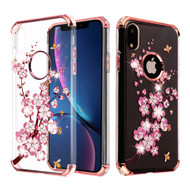 Klarion Crystal Clear Diamond Tough Case for iPhone XR - Spring Flowers