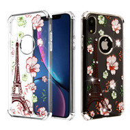 Klarion Crystal Clear Diamond Tough Case for iPhone XR - Eiffel Tower