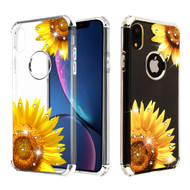 Klarion Crystal Clear Diamond Tough Case for iPhone XR - Sunflower Field