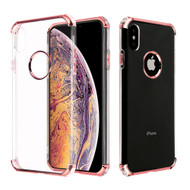Klarion Crystal Clear Tough Case for iPhone XS Max - Rose Gold