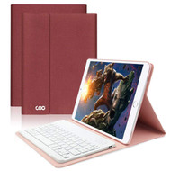 *SALE* Slim Leather Folio Kickstand Case with Removable Bluetooth Wireless Keyboard for iPad Pro 10.5 inch - Burgundy