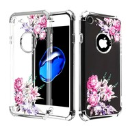 Klarion Crystal Clear Diamond Tough Case for iPhone 8 / 7 - Romantic Love Flowers