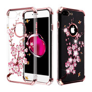 Klarion Crystal Clear Diamond Tough Case for iPhone 8 Plus / 7 Plus - Spring Flowers