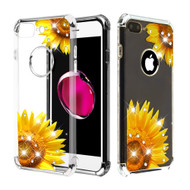Klarion Crystal Clear Diamond Tough Case for iPhone 8 Plus / 7 Plus - Sunflower Field