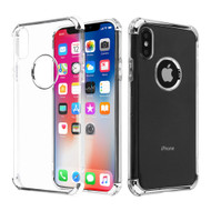 Klarion Crystal Clear Tough Case for iPhone XS / X - Silver