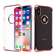 Klarion Crystal Clear Tough Case for iPhone XS / X - Rose Gold