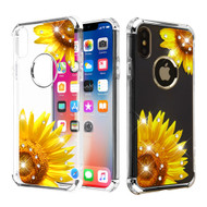 Klarion Crystal Clear Diamond Tough Case for iPhone XS / X - Sunflower Field