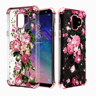 Klarion Crystal Clear Diamond Tough Case for Samsung Galaxy A6 (2018) - Pink Peony