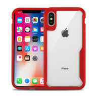 Vista Ultra Hybrid Shock Absorbent Crystal Case for iPhone XS / X - Red