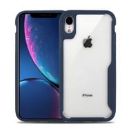 Vista Ultra Hybrid Shock Absorbent Crystal Case for iPhone XR - Navy Blue