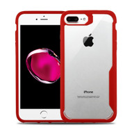 Vista Ultra Hybrid Shock Absorbent Crystal Case for iPhone 8 Plus / 7 Plus - Red