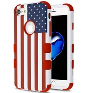 Military Grade Certified TUFF Hybrid Armor Case for iPhone 8 / 7 - United States National Flag