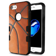 Military Grade Certified TUFF Hybrid Armor Case for iPhone 8 / 7 - Basketball