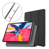 Magnetic Attached Smart Leather Cover with Auto Sleep/Wake for iPad Pro 11 inch - Black