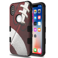 Military Grade Certified TUFF Hybrid Image Armor Case for iPhone XS / X - Football