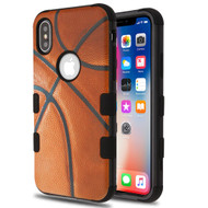 Military Grade Certified TUFF Hybrid Image Armor Case for iPhone XS / X - Basketball