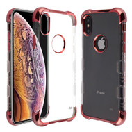 TUFF Klarity Lux Electroplating Transparent Anti-Shock TPU Case for iPhone XS Max - Rose Gold