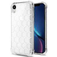Honeycomb Tough Snap-on Crystal Case for iPhone XR - Clear